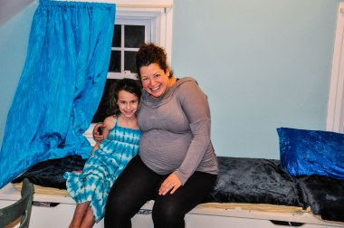 Me and Aviva in her newly decorated room.